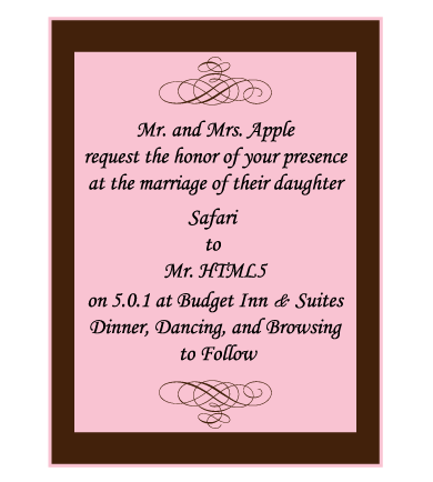 Safari HTML5 Wedding Invitations