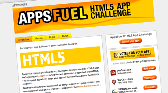 HTML5 App Contest Banner