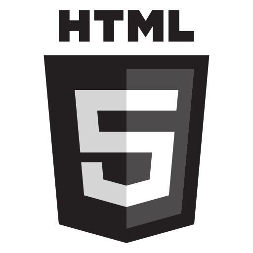 HTML5 black logo design